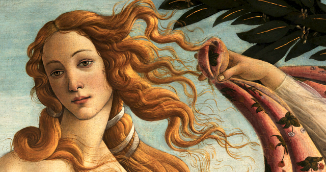 venere dea amore viso botticelli