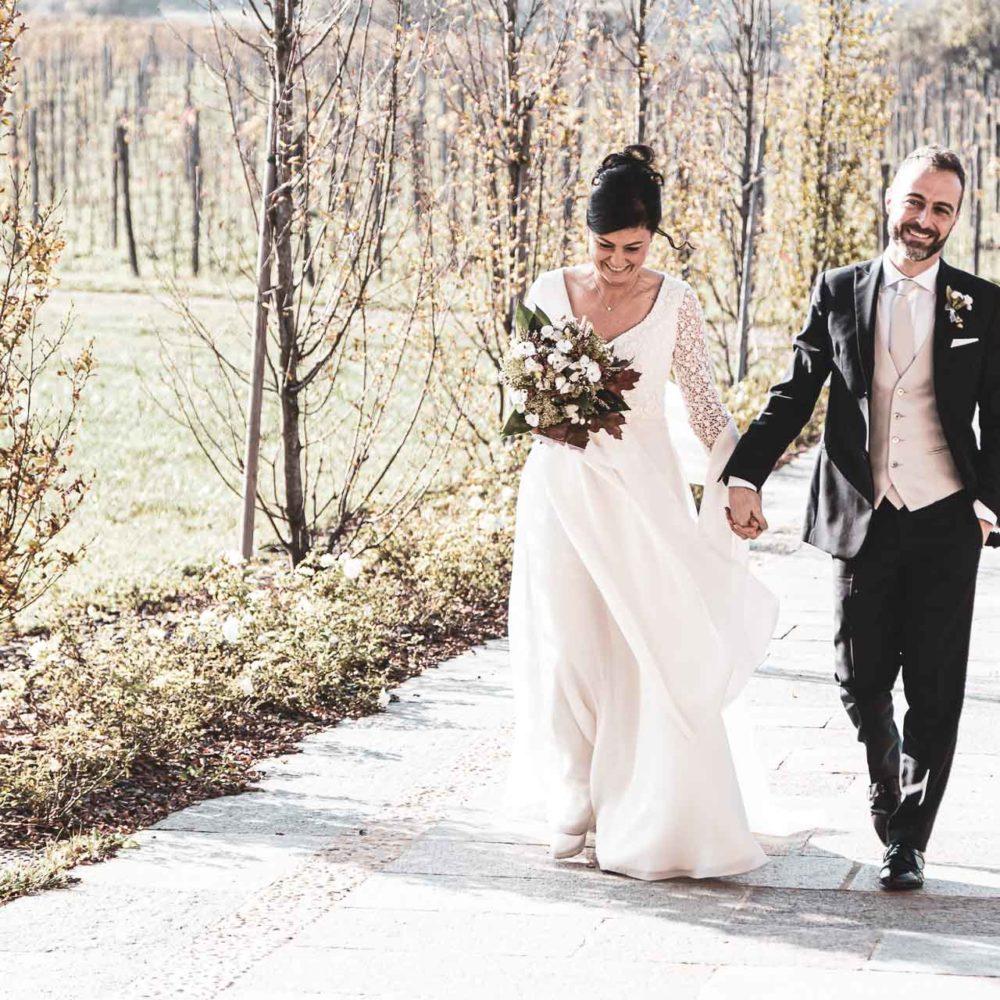 valentina esposito fotoreporter matrimonio autunno sposi che arrivano al ricevimento