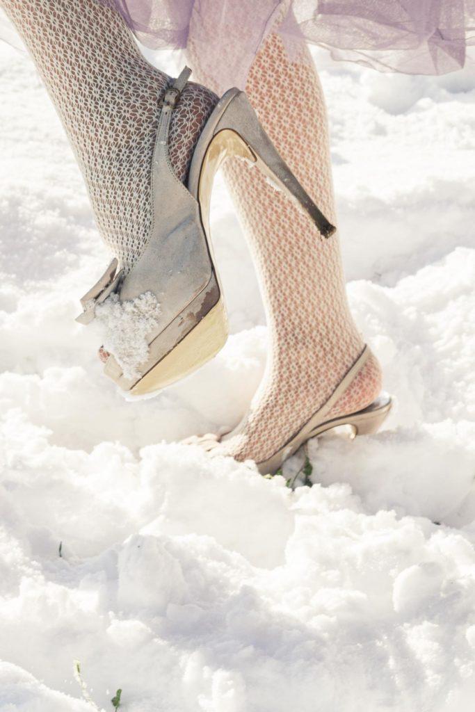 matrimonio in inverno scarpe sposa